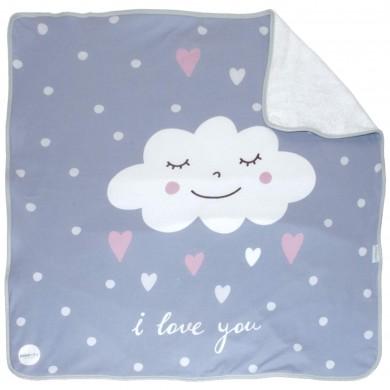 Arrullo rizo bebe algodon Nuvola rosa