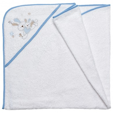 Capa de baño bebe rizo MATERIAL: 100% Algodón Tamaño 100x100 cm