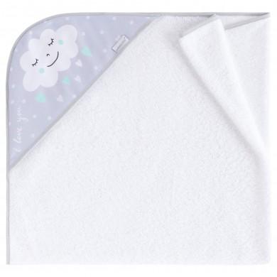 Capa de baño Nuvola menta algodon, rizo