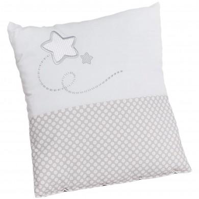 Cojín de bebe Cuore Blanco. Cojin bordado estrella