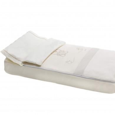 Set de 4 piezas, saco nordico, relleno nordico, bajera de cuna, funda de almohada