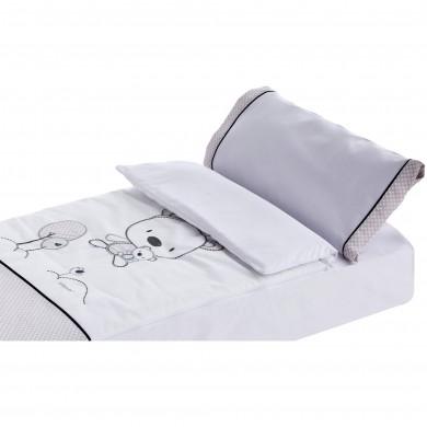 Set de 4 piezas, funda nordica cuna, relleno nordico cuna, sabana bajera cuna, funda de almohada cuna