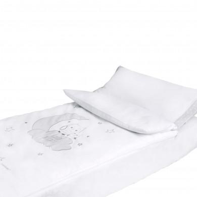 Set de 4 piezas, relleno nordico cuna, funda nordica cuna, sabana bajera cuna, funda de almohada cuna