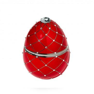 Vela-huevo-raya-plata-rojo-vela-lujo-ambientador-cristales