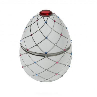 Vela-huevo-raya-plata-blanco-vela-lujo-ambientador-cristales