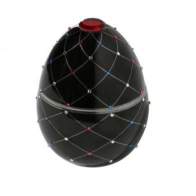 Vela-huevo-raya-plata-negro-vela-lujo-ambientador-cristales