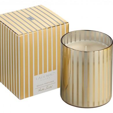 vela aromatica-vela lujo-vela-vaso-cristal-dorado-vela cumpleaños-vela regalo-vela ambientador