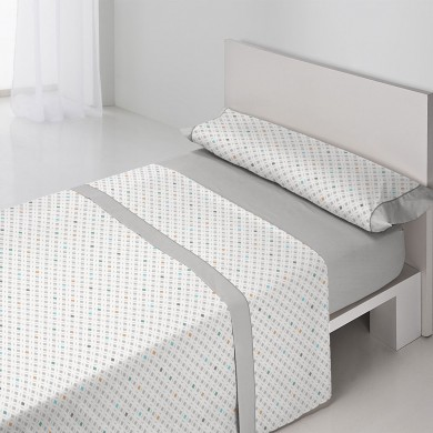 Juego-de-sabanas-Lyon-Gris-estampado-geometrico-tamaño-cama-individual-matrimonio