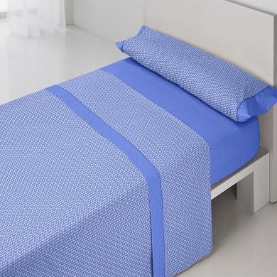 Juego-de-sabanas-Neo-Azul-de-verano-estampado-geometrico