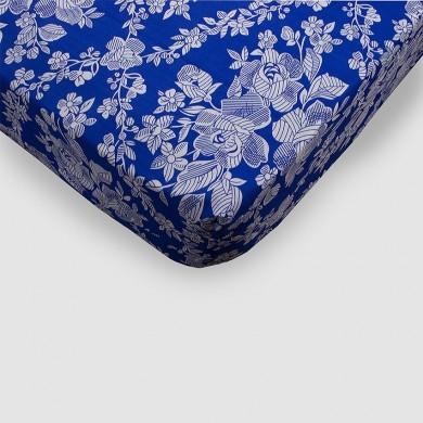 Funda de colchón azul